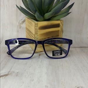 Jones New York Blue Reading Glasses 2.50 readers